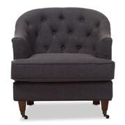 Wholesale Interiors Baxton Studio Marta Upholstered Club Chair; Dark Gray
