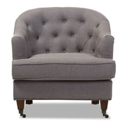 Wholesale Interiors Baxton Studio Marta Upholstered Club Chair; Light Gray
