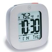 Marathon Watch Company Marathon Compact Alarm Clock w/ Temperature and Date; Graphite Gray