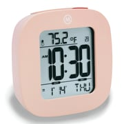 Marathon Watch Company Marathon Compact Alarm Clock w/ Temperature and Date; Pink