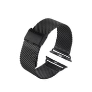 iPM Stainless Steel Mesh Milanese Loop Band for Apple Watch AWMILS002-38-Black (AWMILS00238BK)