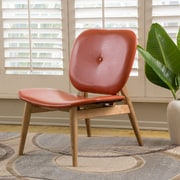 Home Loft Concepts Mathers Faux Leather Side Chair; Burnt Orange