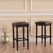 Home Loft Concepts 26.75'' Bar Stool (Set of 2); Bonded Leather