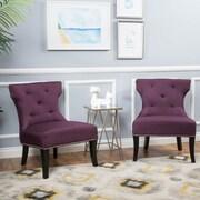 Home Loft Concepts Harvey Slipper Chair; Deep Purple