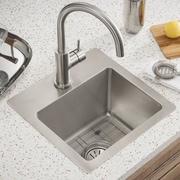 Elkay Crosstown 15'' x 15'' Stainless Steel Single Bowl Dual Mount Bar Sink