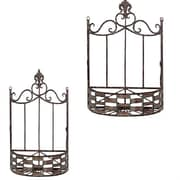 Essential Decor & Beyond 2 Piece Metal Wall Basket Set