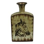Essential Decor & Beyond Horses Ceramic Vase