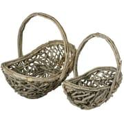 Essential Decor & Beyond 2 Piece Wood Basket Set