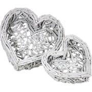 Essential Decor & Beyond 2 Piece Heart Shaped Basket Set