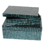 Essential Decor & Beyond 2 Piece Capiz Shell on MDF Storage Box Set
