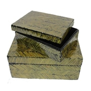 Essential Decor & Beyond 2 Piece Mop on MDF Storage Box Set