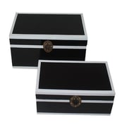 Essential Decor & Beyond 2 Piece Lacquer on MDF Storage Box Set