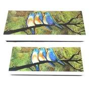 Essential Decor & Beyond Painted Bluebirds on MDF 2 Piece Box Set