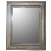Essential Decor & Beyond Rectangled Framed Wooden Mirror