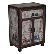 Essential Decor & Beyond 2 Door 1 Drawer Wooden Storage Living Room Cabinet