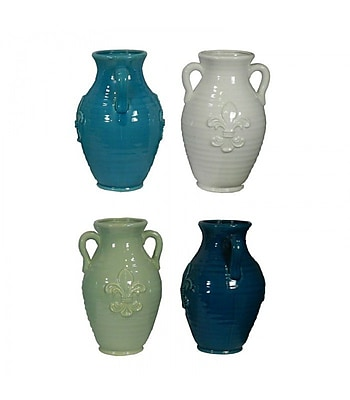 Essential Decor & Beyond Ceramic Vase (Set of 4); 13'' H x 8'' W x 8'' D WYF078279523782