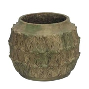 Essential Decor & Beyond Cement Pot Planter; 9.5'' H x 11'' W x 11'' D