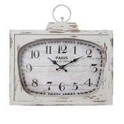 Essential Decor & Beyond Paris Television Themed Metal MDF Clock