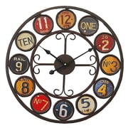 Essential Decor & Beyond 17.7'' Numbered Signposts Metal Clock