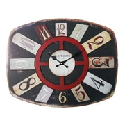 Essential Decor & Beyond Old Town Wood MDF Clock