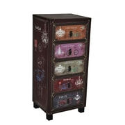 Essential Decor & Beyond Bike Wooden Storage 5 Drawer Cabinet