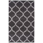 Simple Luxury Modern Trellis Gray Area Rug; 8' x 10'