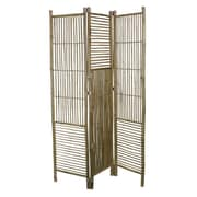 Essential Decor & Beyond 76.5'' x 53.5'' Foldable Bamboo 3 Panel Room Divider