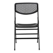Cosco Home and Office Commercial Resin Mesh Folding Chair (Set of 4); Black