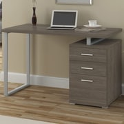 A&J Homes Studio Villa Computer Desk; Dark Taupe