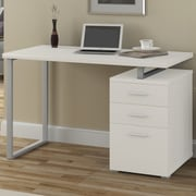 A&J Homes Studio Villa Computer Desk; White