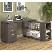 A&J Homes Studio Olive L-Shape Computer Desk; Dark Taupe