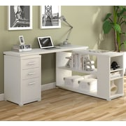 A&J Homes Studio Olive L-Shape Computer Desk; True White