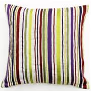 Sabira Whimsy Stripe Linen Throw Pillow