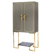 Statements by J Vogue Studded Bar Cabinet