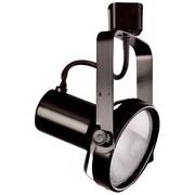 ElcoLighting 1-Light Front Line Voltage Adjustable Gimbal Track Head; Black