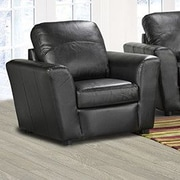Coja Delta Italian Leather Arm Chair; Black