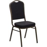 Offex Hercules Series Crown Banquet Chair; Black