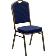Offex Hercules Series Crown Banquet Chair; Navy Blue