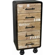 The Urban Port 5 Drawer Industrial Cabinet