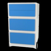 Paperflow EasyOffice Storage Cabinet; White/Blue