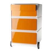 Paperflow EasyOffice Storage Cabinet; White/Orange