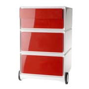 Paperflow EasyOffice Storage Cabinet; White/Red
