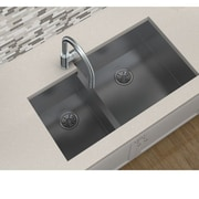 Elkay Avado 32.25'' x 20.5'' Stainless Steel Double Bowl Undermount Kitchen Sink