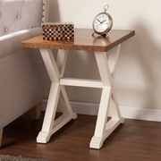 SEI Calgary End Table - Weathered Oak(CK4952)