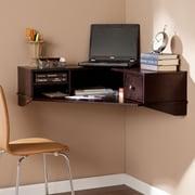 SEI Rymark Corner Wall Mount Desk - Espresso (HO6105)