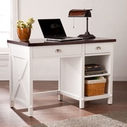 SEI Amburg Farmhouse Desk - White(HO7301)