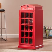 SEI Phone Booth Wine Cabinet - Red (HZ0309)