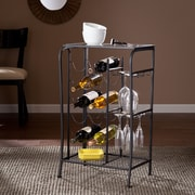 SEI Marengo Wine Rack Storage Table - Black (HZ0310)
