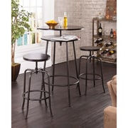 SEI Holly & Martin Kalomar Adjustable Pub Table & Stools - Espresso - 3 Piece Set (KA1114)