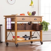 SEI Landsberg Kitchen Cart - Dark Oak (KA3269)